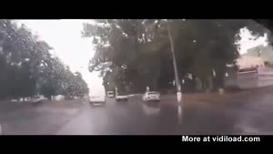 Van Drives Into Hole In The Road