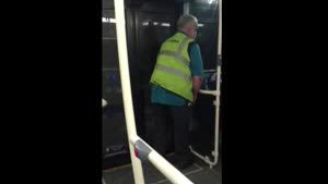 Bus Driver Pees In Own Bus