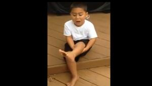 Kid Steps Barefoot In Dog Poop
