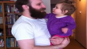 Baby Misses Daddy's Beard