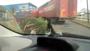 Truck Wrecks Drive Thru