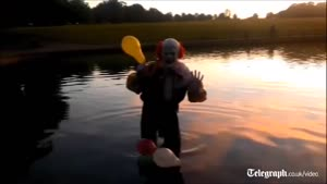 Freaky Clown On Video For 1st Time