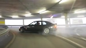 Awesome Parking Garage Drifting