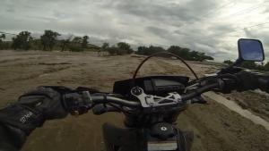 Motorcyclist Gets Dragged In Flood