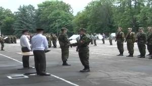 Tree Invades Military Ceremony