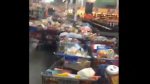 Empty Walmart After Food Stamps Fail