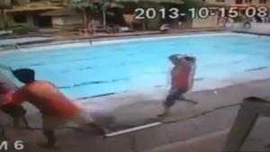 Pool During Earthquake