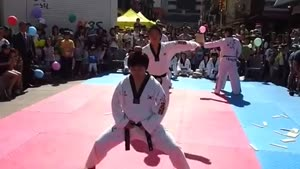 Taekwondo Demonstration Ends In Kick To Head