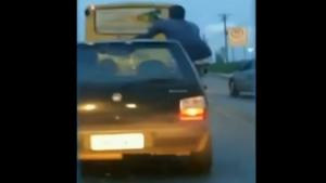 Idiot Pays The Price For Car Surfing