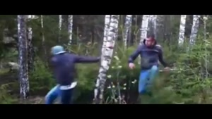 Wannabe Lumberjacks Try To Fell Tree Without Chainsaw