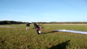 Paraglider Take Off Fail