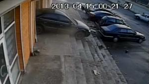 Idiot Crashes Car Into Building