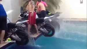 Swimming pool burnout