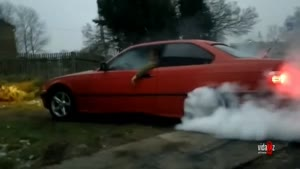 BMW Burnout Fail