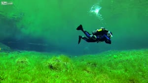 Diving The Green Lake In Austria