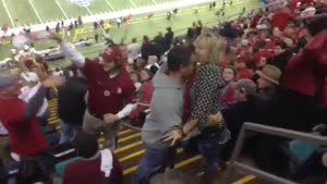 Female Football Fan Goes Nuts