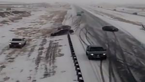 Accident After Accident On Icy Road