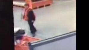 Home Depot Worker Catches Baby