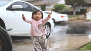 Toddler Sees Rain For The First Time