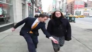 Crotch Shotting Reporter Gets Slapped