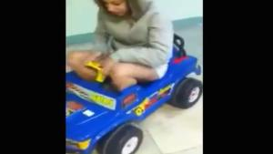 Girl In Kids' Toys Car