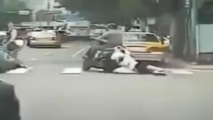 Guy Drags Girl Behind Motorcycle