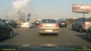 Car Randomly Explodes On Highway