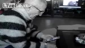 Grandpa Tries To Make A Phone Call