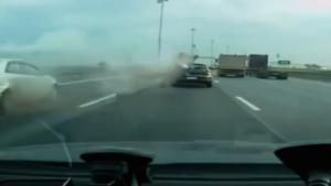 Speeding Biker Makes Big Mistake