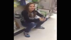 Girl Pissing Her Pants In Store Aisle