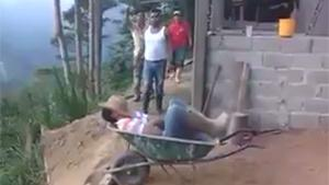 Taking A Nap In Wheelbarrow