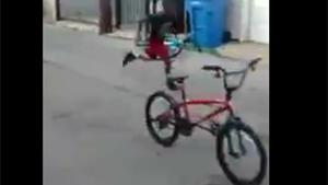 Epic Punch From Cycling Kid