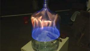 Burning Isopropyl Alcohol