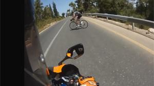 Close Call For Cyclist