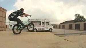 BMX Rider Loses Hair On Landing