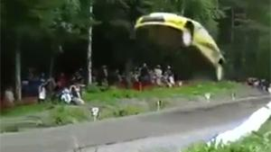 Rally Car Flying by