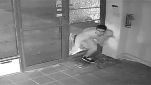 Fleeing Thief Runs Into Door
