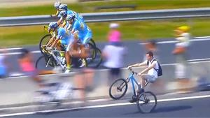 Wheelie During Tour De France