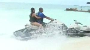 Jet Ski Goes Airbone After Crash