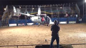 Crazy Helicpoter Stunt At Rodeo