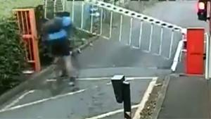 Cyclist Hit By Barrier
