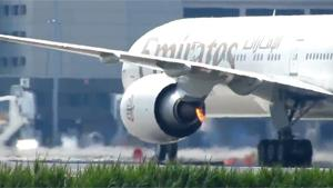 Airplane Engine Caught Fire During Landing