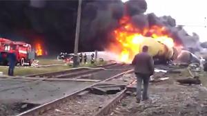 Oil Train On Fire