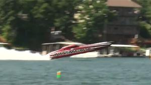 Speed Boat Goes Airborne