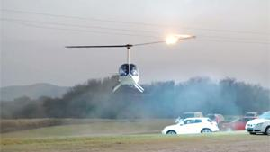 Chopper Hits Powerlines