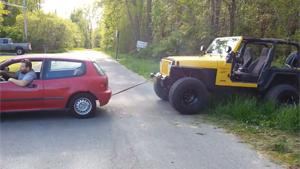 Towing Jeep Fail