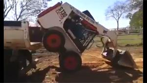 Bobcat Driver Has Epic Skills