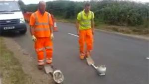 Road Worker Trick