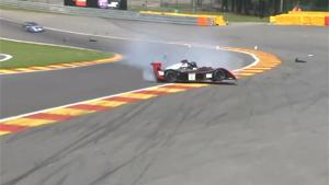 Hard Crash At Spa Race Circuit