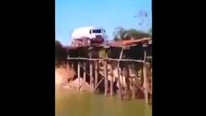 Heavy Truck vs Old Wooden Bridge